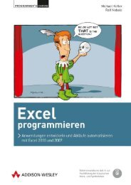 Excel programmieren  – *ISBN 978 ... - Addison-Wesley