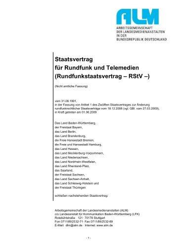 Rundfunkstaatsvertrags