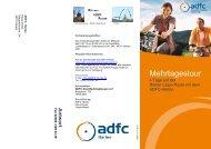 Flyer zur Mehrtagestour auf der Römer-Lippe-Route - beim ADFC