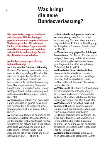 Was bringt die neue Bundesverfassung? - admin.ch