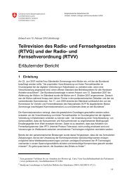 Erläuternder Bericht - admin.ch