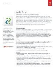 Adobe® Survey - Adobe Digital Marketing