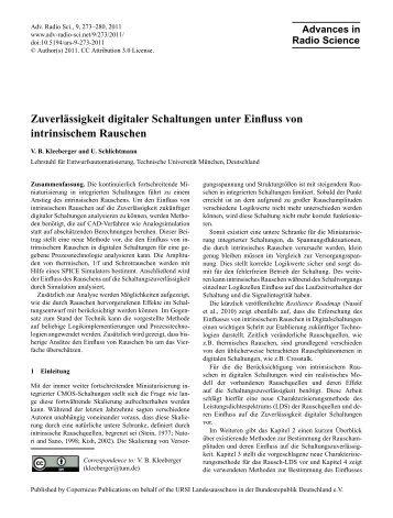 Full Article in PDF - Advances in Radio Science