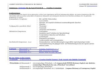 Arbeitsplan (Download) - Albert Einstein Gymnasium