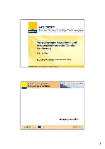 Vorgefertigte Fassaden - bei AEE - Institut für Nachhaltige ...
