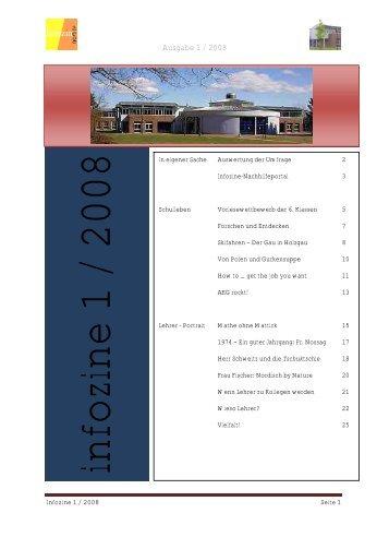 Infozine 1/2008 - Albert Einstein Gymnasium