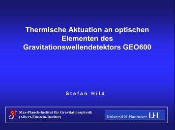 Thermische Aktuation an optischen Elementen des ...