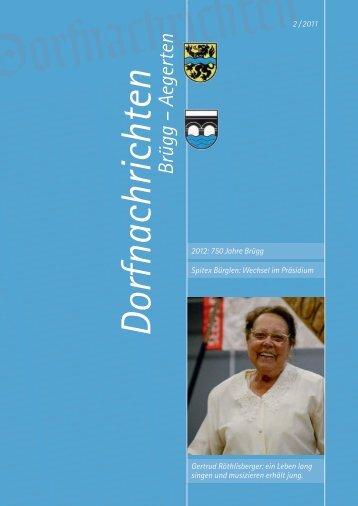 Dorfnachrichten 2/2011 - Aegerten