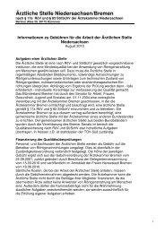 Ärztliche Stelle Niedersachsen/Bremen - Ärztekammer Bremen