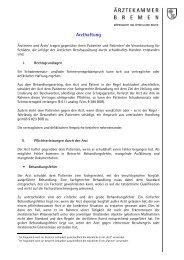 Arzthaftung (PDF) - Ärztekammer Bremen