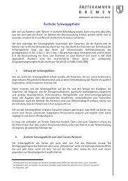 Merkblatt Ärztliche Schweigepflicht (PDF)