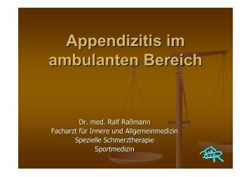 Appendizitis im ambulanten Bereich