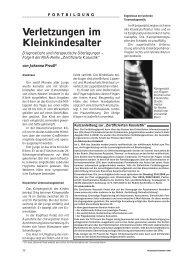 Verletzungen im Kleinkindesalter - Ärztekammer Nordrhein