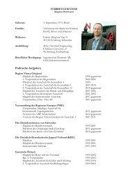 Curriculum vitae Magnus Berntsson DE