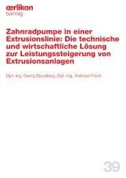 Zahnradpumpe in einer Extrusionslinie: Die technische und ...