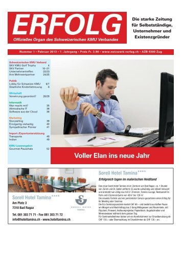 Erfolg_Ausgabe Nr. 1 - Februar 2013
