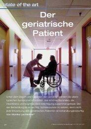 Der geriatrische Patient - Österreichische Ärztezeitung