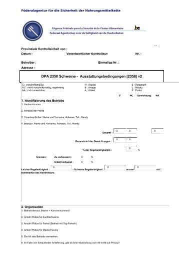DPA 2358 Schweine - Ausstattungsbedingungen [2358] v2