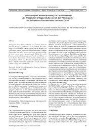 Optimierung der Hiebsatzplanung zur Quantifizierung von ... - AFSV