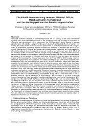 Die Waldflächenentwicklung zwischen 1800 und 2000 im ...