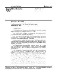 Resolution 1464 - AG Friedensforschung