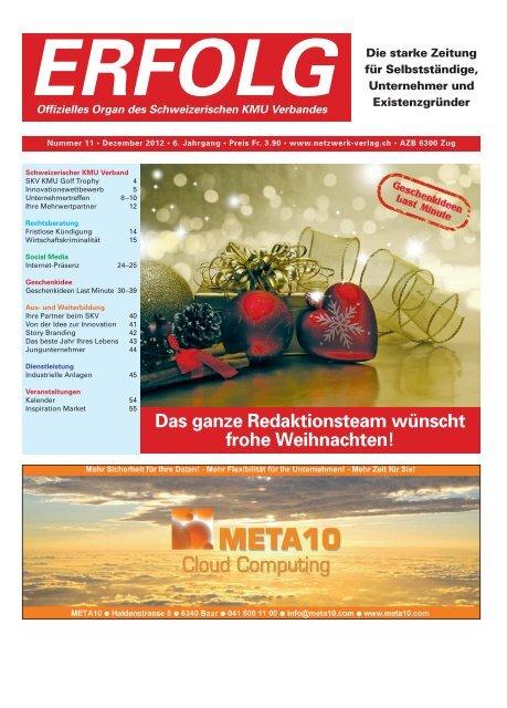 Erfolg_Ausgabe Nr. 11 - Dezember 2012
