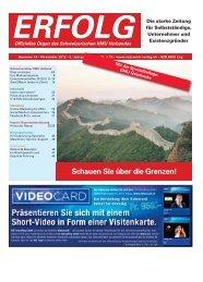 Erfolg_Ausgabe Nr. 10 - November 2012