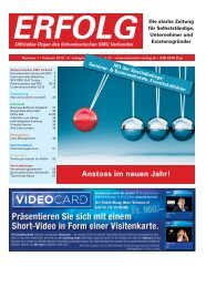 Erfolg_Ausgabe Nr. 1 - Februar 2012