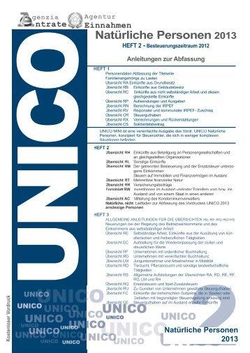 PF2_Copertina Unico_2013_TED_cop_730 - Agenzia delle Entrate