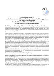 Stellungnahme der AGJ zu den Referentenentwürfen eines Vertrags ...