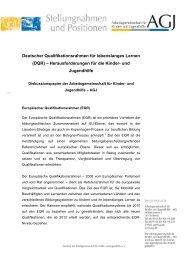 Deutscher Qualifikationsrahmen für lebenslanges Lernen (DQR) - AGJ