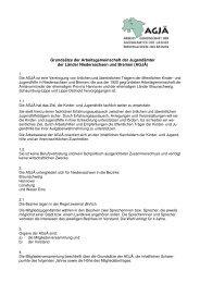 Grundsätze der Arbeitsgemeinschaft der Jugendämter der ... - Agjä