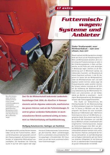 Futtermisch- wagen: Systeme und Anbieter