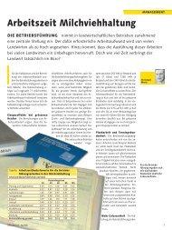 Arbeitszeit Milchviehhaltung - agrigate.ch