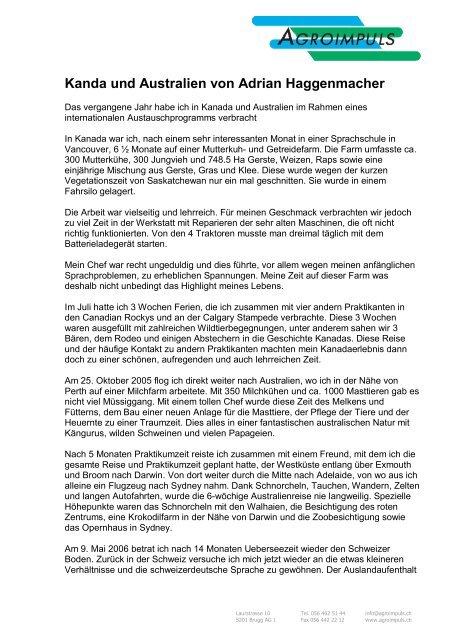 Briefvorlage Agroimpuls Mit Logo Deutsch