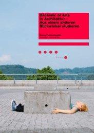 Bachelor of Arts in Architektur - AHB - Berner Fachhochschule