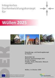 Integriertes Dorfentwicklungskonzept für Wüllen 2025 - Stadt Ahaus