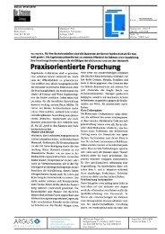 Praxisorientierte Forschung - AHB - Berner Fachhochschule