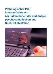 Pathologischer PC-/ Internet-Gebrauch bei Patient/Innen der - AHG ...