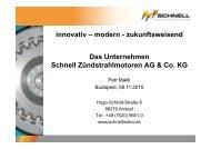 Das Unternehmen Schnell Zündstrahlmotoren AG & Co. KG ...