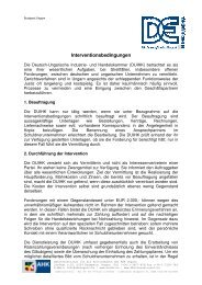 Interventionsbedingungen - Deutsch-Ungarische Industrie- und ...