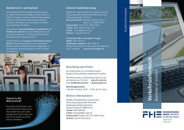 Verkehrsinformatik Bachelor of Science - Fachhochschule Erfurt ...