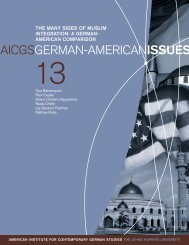 the many sides of muslim integration: a german- american - aicgs