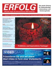 Erfolg_Ausgabe Nr. 11 - Dezember 2011