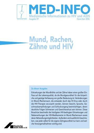 Mund, Rachen, Zähne und HIV - Deutsche AIDS-Hilfe e.V.