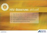 hiv beratung akruell 01-2013 - Deutsche Aids-Hilfe e.V.