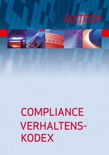 Vollständiger Text des Compliance-Kodex - Aixtron