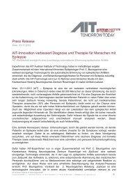 AIT-Innovation verbessert Diagnose und Therapie für Menschen
