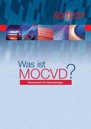 MOCVD Basiswissen für Neueinsteiger - Aixtron
