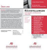 Rückstellungen - AH Akademie für Fortbildung Heidelberg GmbH